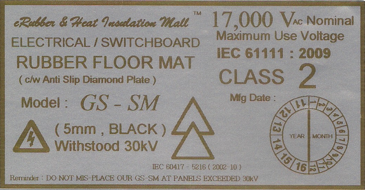 High Voltage Insulation Rubber Mat Malaysia